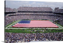 American Flag Lines the Field at M&T Bank Stadium