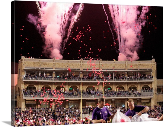 Amon G. Carter Stadium Balloon Release