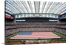An American Flag Across Reliant Stadium
