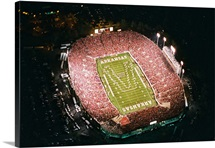 Arkansas Photographs Aerial View of War Memorial Stadium