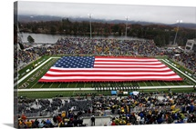 Army: An American Flag Spans Michie Stadium