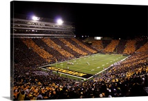 Black and Gold Stripes at Kinnick Stadium
