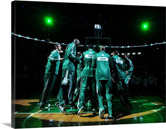 Boston Celtics Huddle