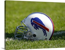 Buffalo Bills Helmet Sits at Ralph Wilson Stadium