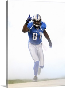 Calvin Johnson Enters Ford Field