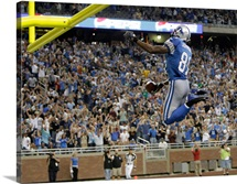 Calvin Johnson Goalpost Dunk