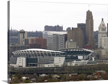 Cincinnati Skyline and Paul Brown Stadium