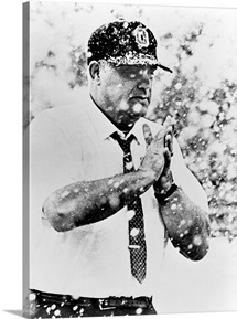 Coach Woody Hayes Braves the Snow