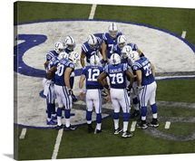Colts Huddle in game against the Titans, 2013