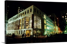 Columbia Photographs Lerner at Night