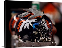 Denver Broncos Helmet sits at Sports Authority Field