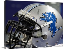 Detroits Lions Helmet at Ford Field