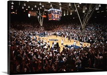 Duke Fans Storm Cameron Indoor Stadium
