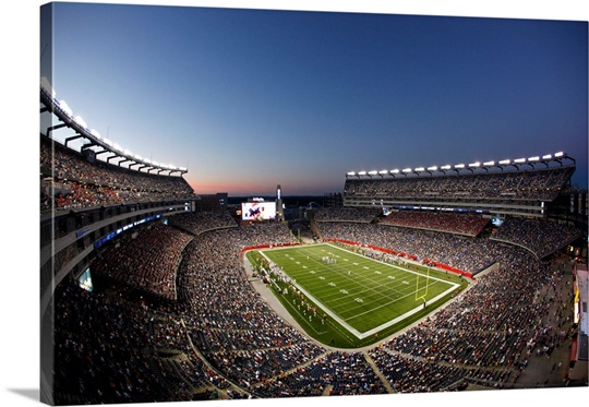 Dusk Falls on Gillette Stadium