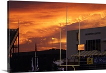 East Carolina Pictures Sunset at Dowdy Ficklen Stadium