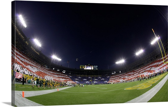 Fans Form a Flag at Lambeau Field