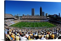 Georgia Tech: Bobby Dodd Stadium and Atlanta Skyline