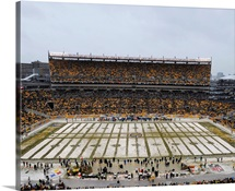 Heinz Field in the Snow, Steelers and Dolphins game, Dec. 8, 2013