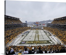 Heinz Field with Snow, Steelers and Dolphins game in Pittsburgh, 2013