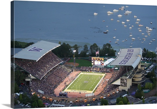 Husky Stadium on Game Day