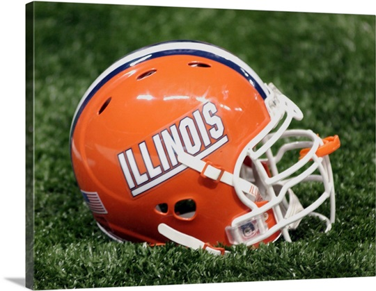 Illinois Football Helmet at Memorial Stadium