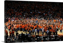 Illinois: Illini Defeat Indiana, Storm the Court