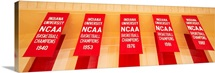 Indiana Hoosiers basketball stadium, championship banners