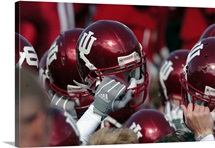 Indiana University Photographs Hoosiers Helmets