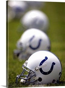 Indianapolis Colts Helmets at Lucas Oil Stadium