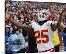 Jamaal Charles of the Chiefs celebrates touchdown against the Redskins, 2013