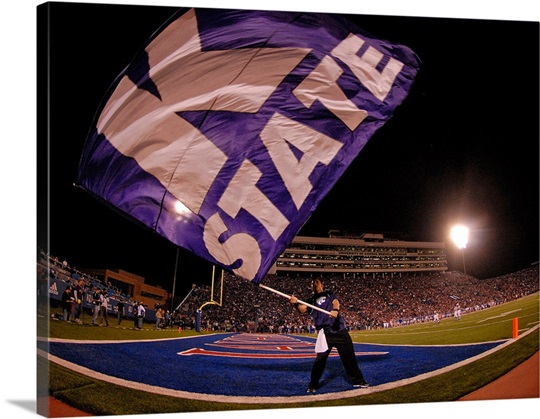 Kansas State Flag Flies at Bill Snyder Family Stadium