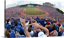 KU Photograph Waving Wheat in Memorial Stadium