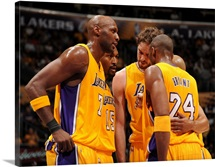 Lamar Odom, Ron Artest, Pau Gasol, Kobe Bryant, Derek Fisher