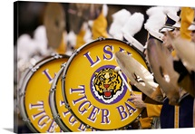 Louisana State University Pictures LSU Drums Line Up