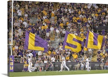 Louisana State University Pictures LSU Flags Fly on Game Day