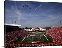Louisville Photographs Pregame Fly Over Cardinal Stadium