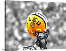 LSU Football Helmet Held High
