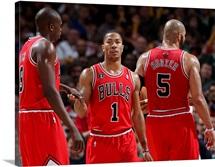 Luol Deng, Derrick Rose, Carlos Boozer - Chicago Bulls
