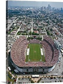 Miami: Aerial of Orange Bowl Stadium