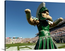 MSU Photographs Sparty the Spartan on Game Day