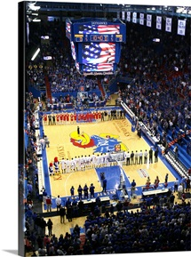 National Anthem in Allen Field House