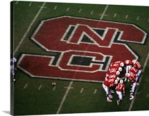 NC State Football Huddle