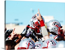 New Mexico Football Huddle
