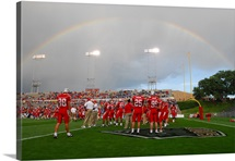 New Mexico Pictures A Rainbow over University Stadium