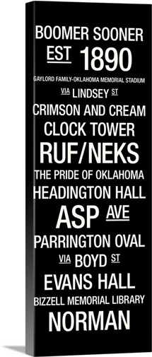 Oklahoma College Town Wall ARt