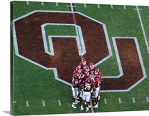 Oklahoma Football Huddle