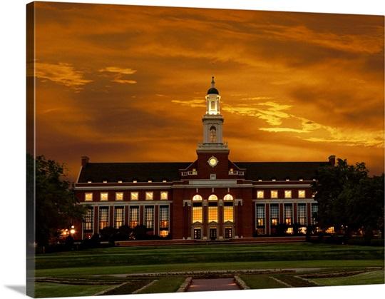 Oklahoma States Edmon Low Library Photo Canvas Print