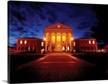 Ole Miss Photographs Lyceum Night Time Colors