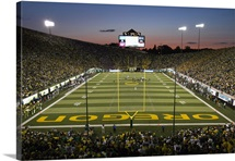 Oregons Autzen Stadium, Endzone View