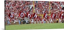 OU Photograph Sooner Flags Panorama